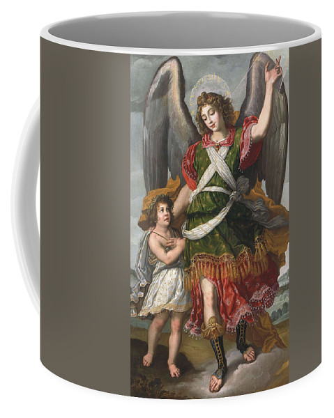 Felix Castello Coffee Mug featuring the painting Guardian Angel by Felix Castello