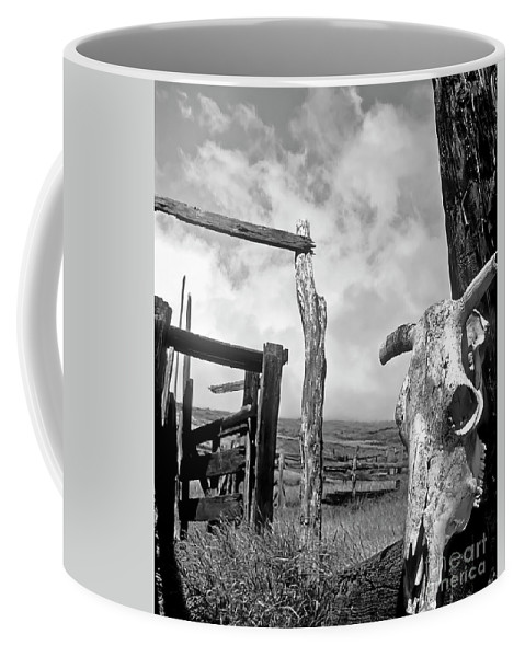 Black And White Coffee Mug featuring the photograph Guardian Spirit by Jim Cazel