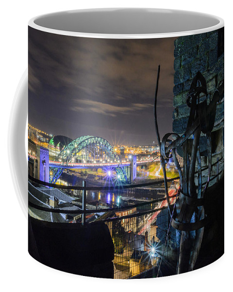 Newcastle Coffee Mug featuring the photograph Guarding The City by Mark Burn