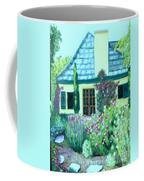 Cottage Coffee Mug featuring the painting Guest Cottage by Laurie Morgan