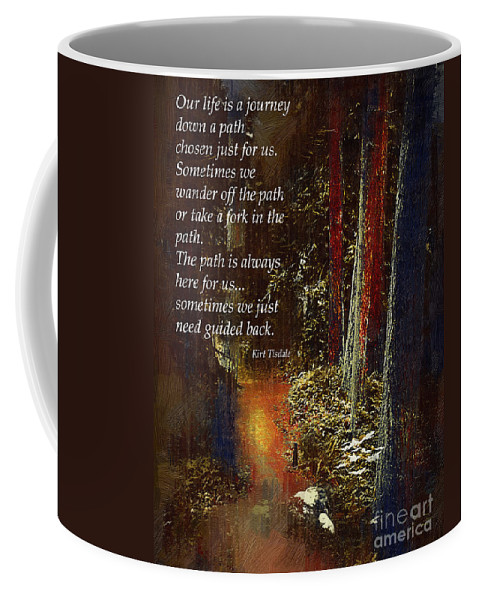 Forest Coffee Mug featuring the digital art Guide Me Back by Kirt Tisdale