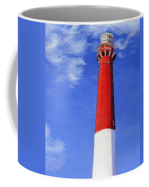 Lighthouse Coffee Mug featuring the painting Guiding Light by Lynne Reichhart