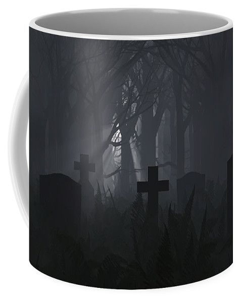 Death Coffee Mug featuring the digital art Guiding Light by Richard Rizzo