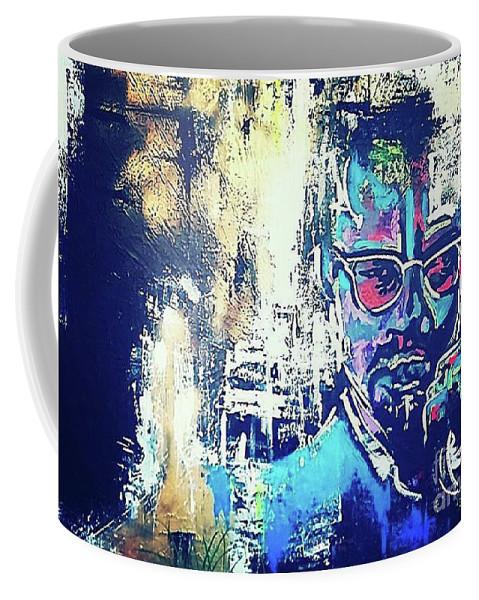 Malcom Coffee Mug featuring the painting Guitar by Alisha Oliver