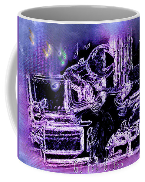 Abstract Art Coffee Mug featuring the photograph Guitar Blues by Susan Kinney