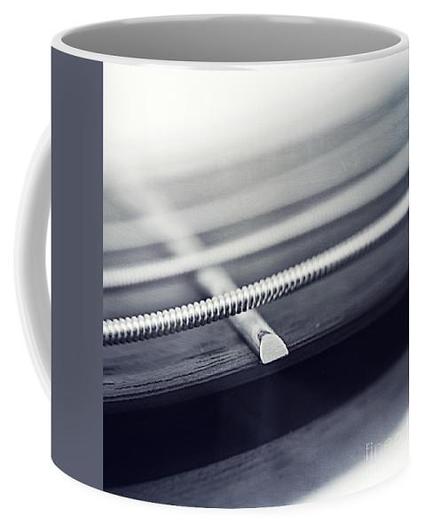 Black Coffee Mug featuring the photograph guitar IV by Priska Wettstein