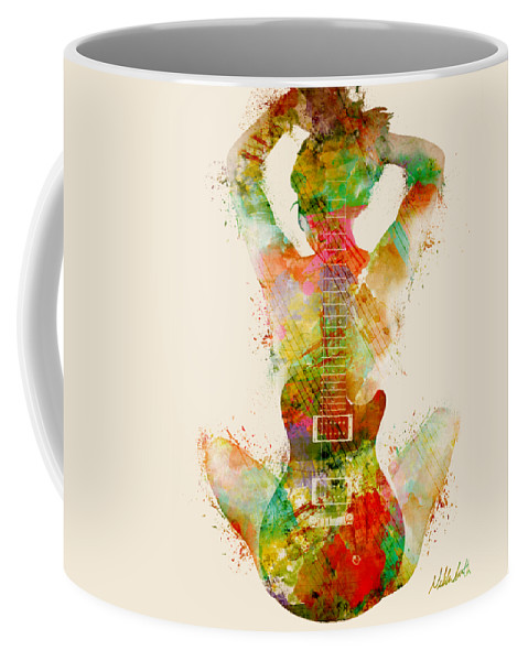 Guitar Coffee Mug featuring the digital art Guitar Siren by Nikki Smith