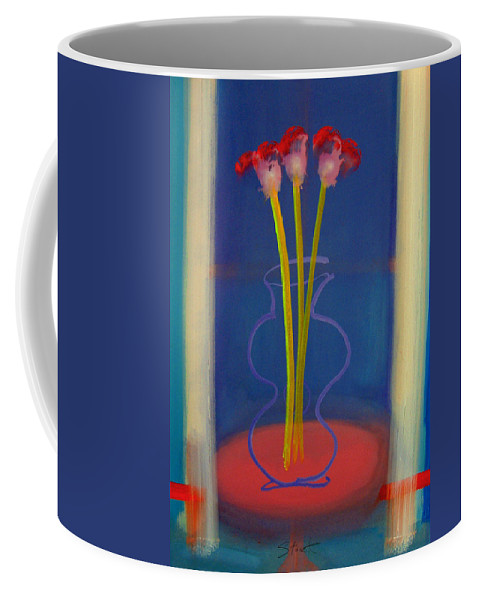 Guitar Coffee Mug featuring the painting Guitar Vase by Charles Stuart