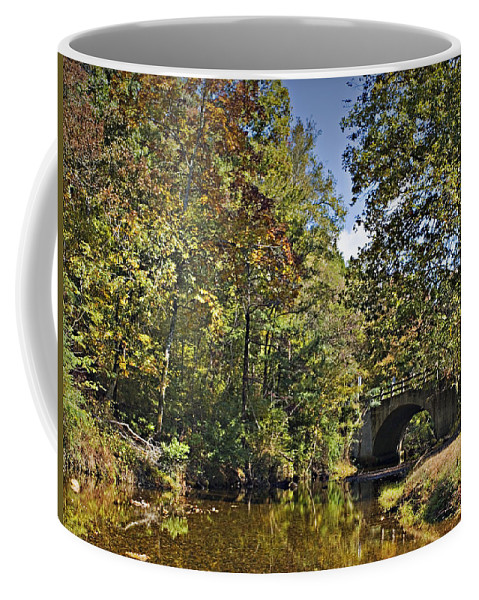 Gulpha Creek Coffee Mug featuring the photograph Gulpha Creek by Walter Herrit