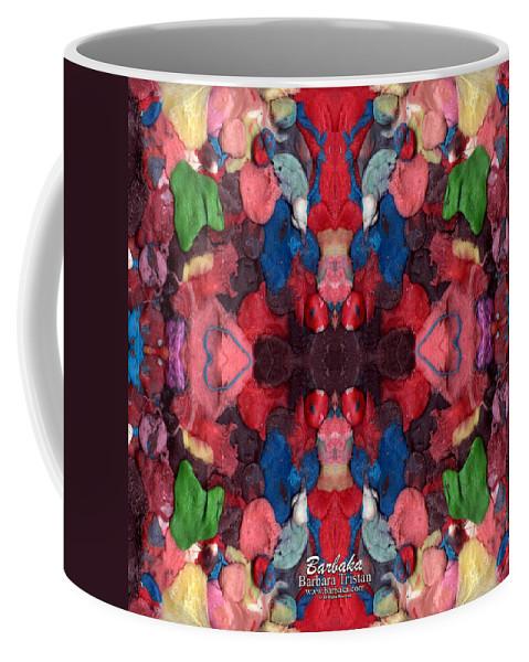Got Gum? Coffee Mug featuring the mixed media Gum Art 1a by Barbara Tristan