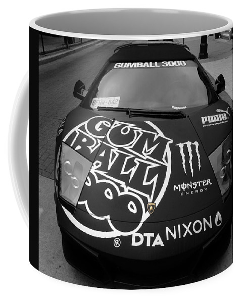 Gumball 3000 Coffee Mug featuring the photograph Gumball Rally Lamborghini by Andrew Fare