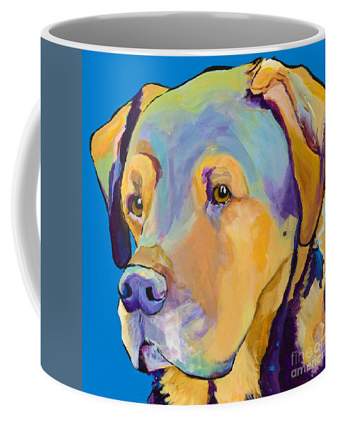 Dog Portrait Coffee Mug featuring the painting Gunner by Pat Saunders-White