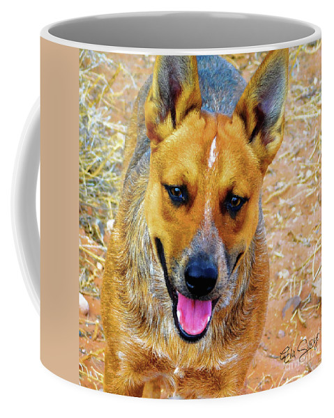 Dog Coffee Mug featuring the painting Gus by Eva Sawyer