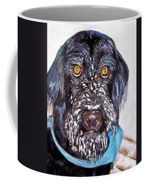 Dog Coffee Mug featuring the painting Gus by Frances Marino