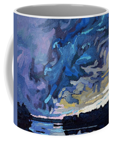 Shelf Coffee Mug featuring the painting Gust Front by Phil Chadwick