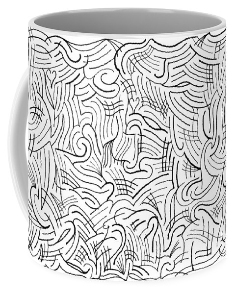 Mazes Coffee Mug featuring the drawing Gusty by Steven Natanson