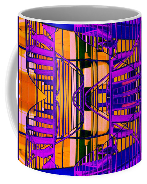 Staircase Coffee Mug featuring the photograph Gym Staircase by Tim Allen