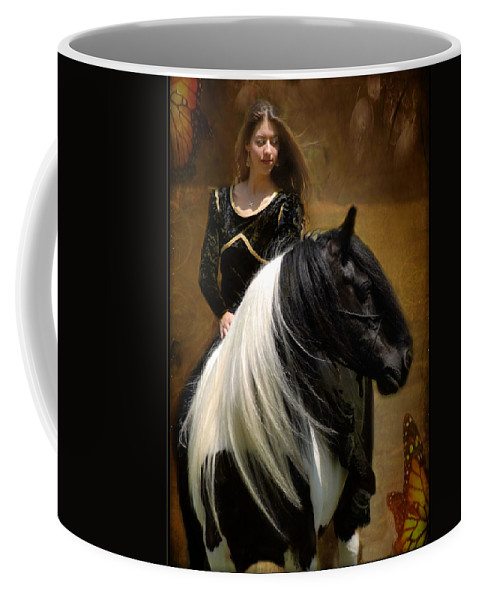 Horses Coffee Mug featuring the photograph Gypsy Girl Kate by Fran J Scott