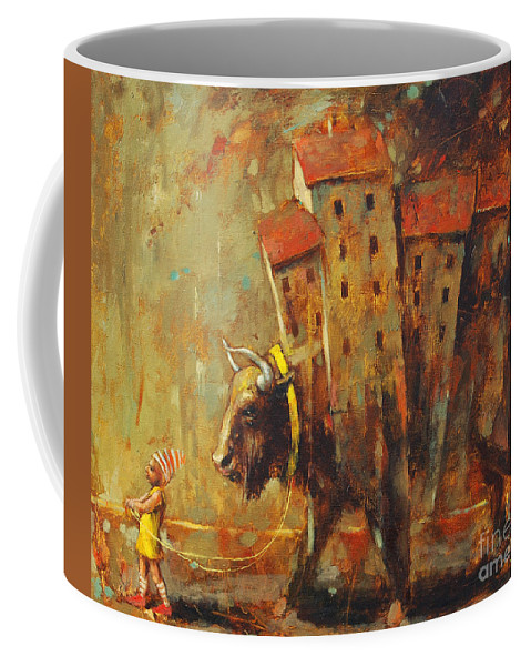 Gypsy Life Coffee Mug featuring the painting Gypsy Life by Michal Kwarciak