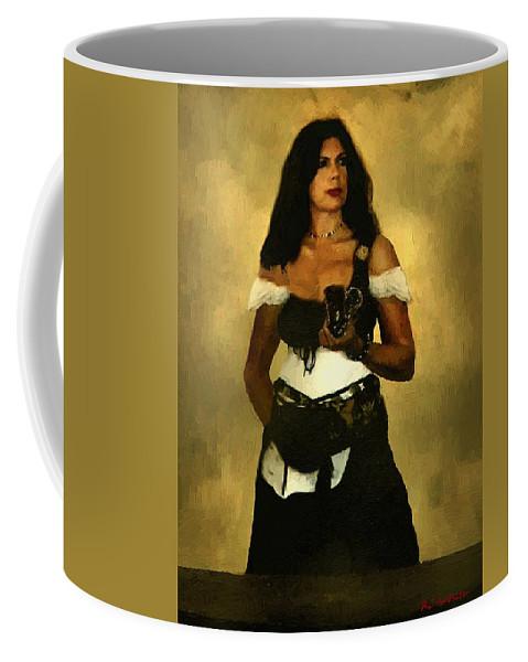 Barmaid Coffee Mug featuring the painting Gypsy Polly by RC DeWinter
