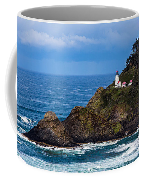 Oregon Coffee Mug featuring the photograph Haceta Head Lighthouse by Scott Law
