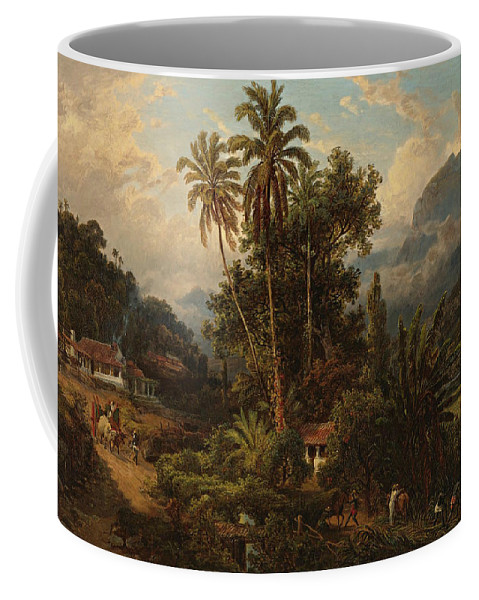 19th Century Art Coffee Mug featuring the painting Hacienda De San Esteban De Puerto Cabello, Venezuela by Ferdinand Bellermann