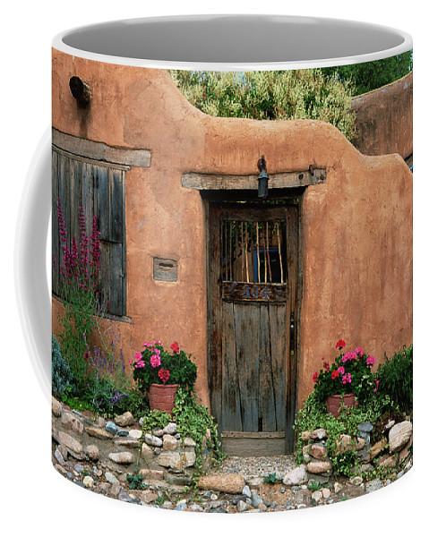 Southwest Coffee Mug featuring the photograph Hacienda Santa Fe by Jim Benest