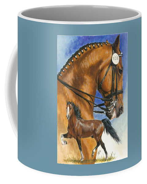 Hackney Coffee Mug featuring the mixed media Hackney by Barbara Keith