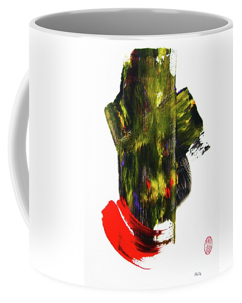 Abstract Coffee Mug featuring the painting Haiku Tree by Roberto Prusso