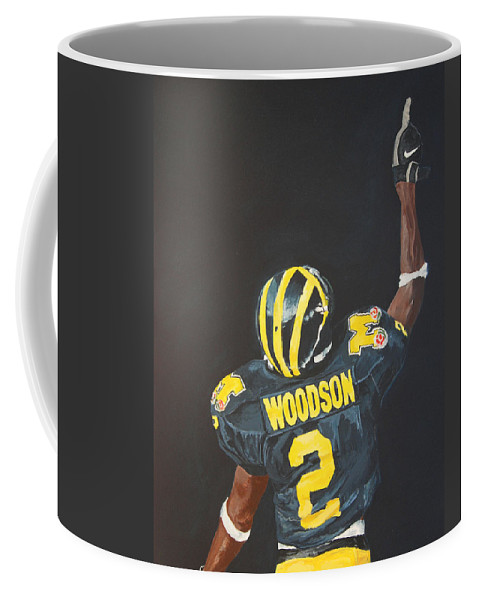 Heisman Coffee Mug featuring the painting Hail Yes by Travis Day