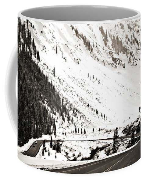 Curve Coffee Mug featuring the photograph Hairpin Turn by Marilyn Hunt