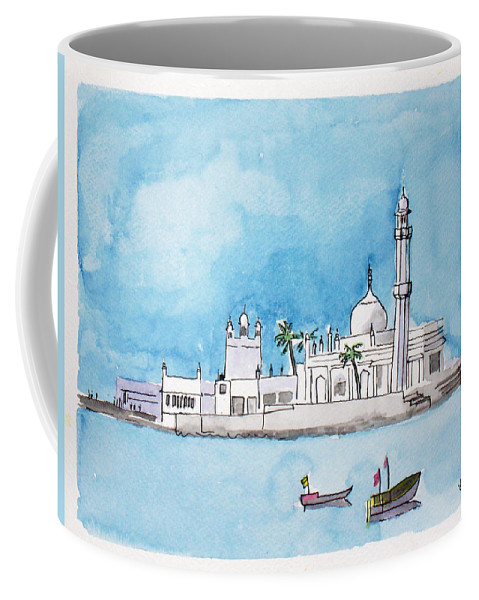 Landmark Coffee Mug featuring the painting Haji Ali Mumbai by Keshava Shukla