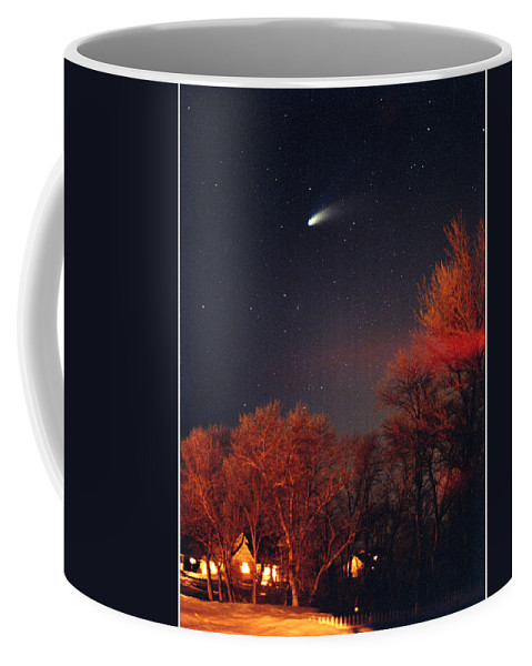 Comet Coffee Mug featuring the photograph Hale-bopp Comet by Nancy Mueller