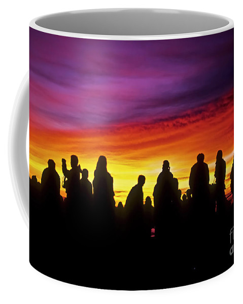 Haleakala Sunrise Coffee Mug featuring the photograph Haleakala Color Show by Jim Cazel