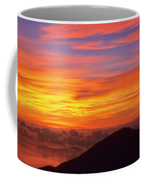 Nature Coffee Mug featuring the photograph Haleakala Sunrise Colors IIi by Jim Cazel