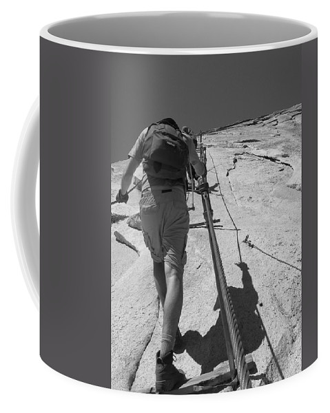 Half Dome Coffee Mug featuring the photograph Half Dome Cables by Travis Day
