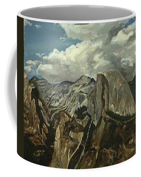 Coffee Mug featuring the painting Half Dome by Travis Day