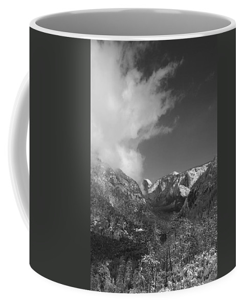 Half Dome Coffee Mug featuring the photograph Half Dome Winter by Travis Day