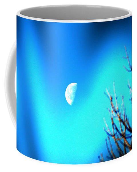 Moon Coffee Mug featuring the photograph Half Moon by Bill Cannon