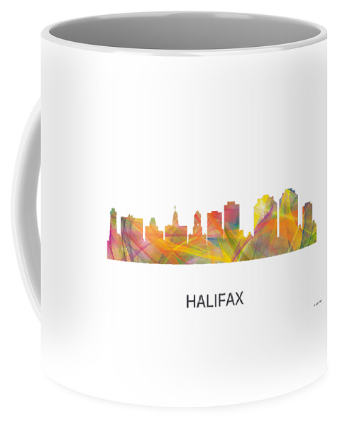 Halifax N.s.skyline Coffee Mug featuring the digital art Halifax N.s.skyline by Marlene Watson