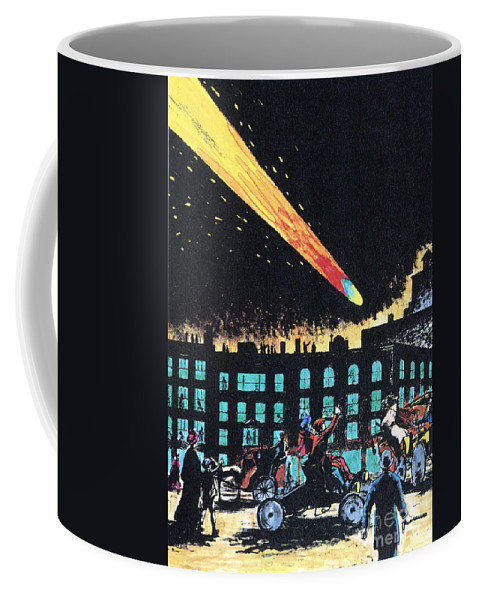 1910 Coffee Mug featuring the photograph Halleys Comet, 1910 by Granger