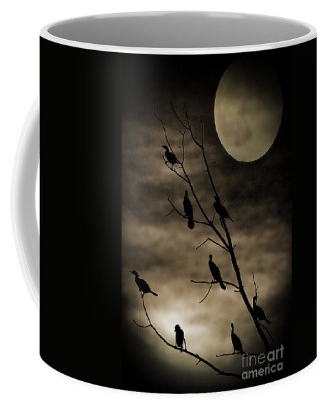 Halloween Coffee Mug featuring the photograph Guardians Of The Lake by Elizabeth Winter