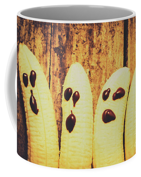 Ghost Coffee Mug featuring the photograph Halloween Healthy Treats by Jorgo Photography - Wall Art Gallery
