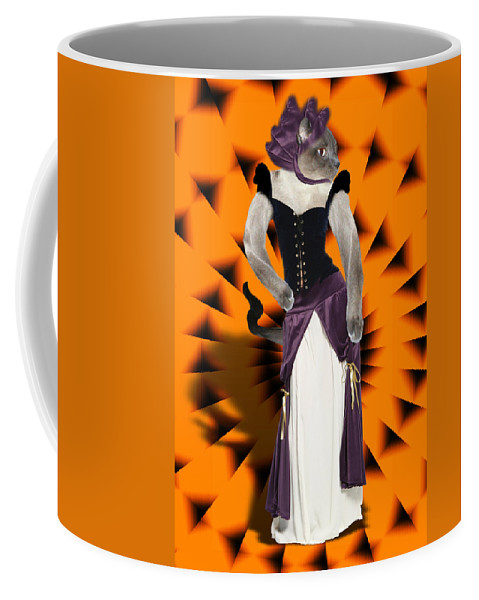 Halloween Coffee Mug featuring the mixed media Halloween Hussy by Gravityx9 Designs