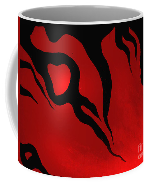 Abstract Art Coffee Mug featuring the digital art Halloween Mood. Emotions by Sofia Metal Queen