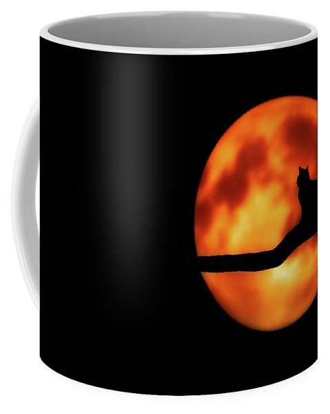Halloween Coffee Mug featuring the mixed media Halloween Night by Pixabay
