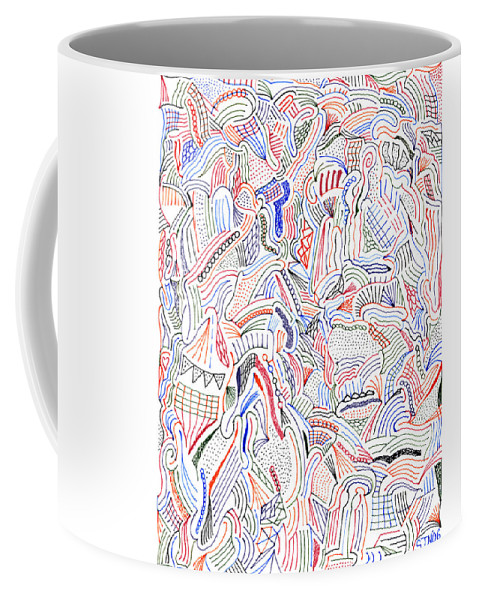 Mazes Coffee Mug featuring the drawing Hallucination by Steven Natanson