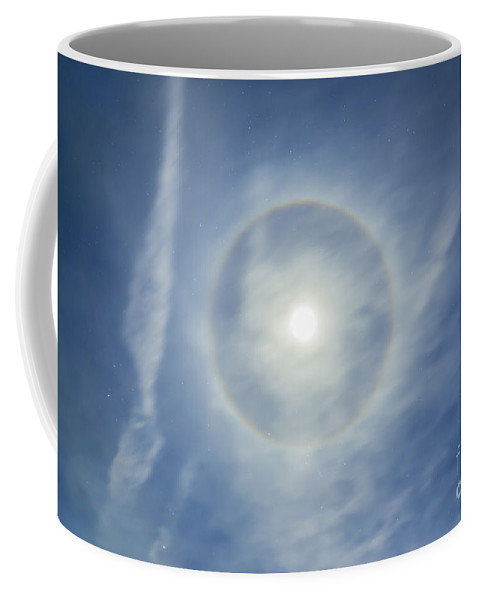 Full Moon Coffee Mug featuring the photograph Halo Around Full Moon In A Sky by Alan Dyer