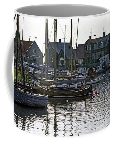 Sweden Coffee Mug featuring the photograph Halsingborg Marina 1 by Lee Santa