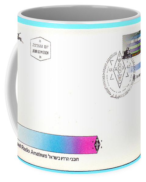 Ham Coffee Mug featuring the photograph Ham Radio First Day Cover by Ilan Rosen